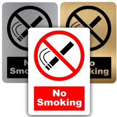 No Smoking-Design 2-Aluminium Metal Sign-150mmx100mm-Notice,Door,Warning,Health,Safety,Premises